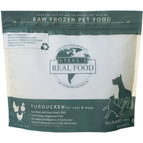 <b>Steve Real Food</b><br>Turducken Raw Diet<br><br>5lb - 13.5lb