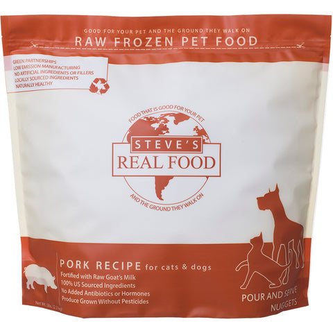 <b>Steve Real Food</b><br>Pork Raw Diet<br><br>5lb - 13.5lb