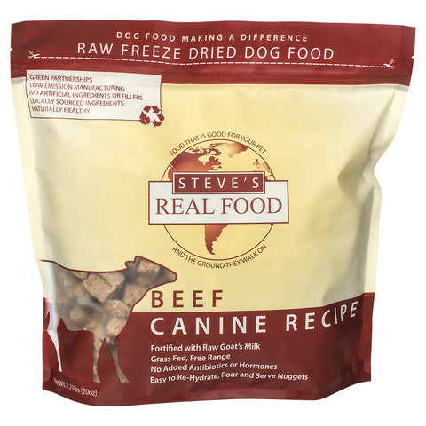 <b>Steve Real Food</b><br>Freeze Dried Beef Diet<br>1.25lb - 566gr