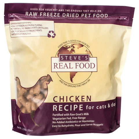 <b>Steve Real Food</b><br>Freeze Dried Chicken Diet<br>1.25lb - 566gr
