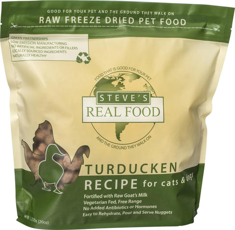 <b>Steve Real Food</b><br>Freeze Dried Turducken Diet<br>1.25lb - 566gr