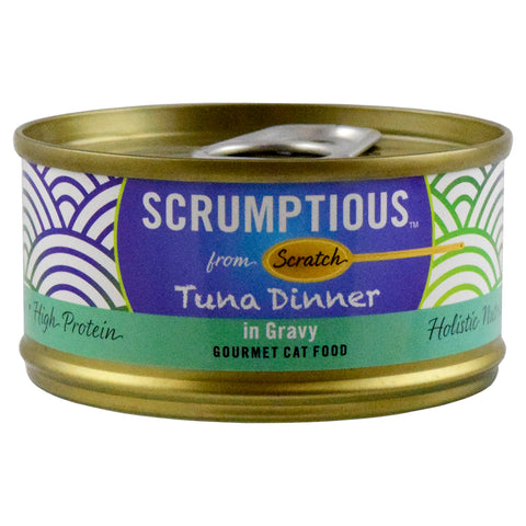 <b>Scrumptious</b><br>Tuna Dinner in Gravy<br><br>2.8oz - 80g