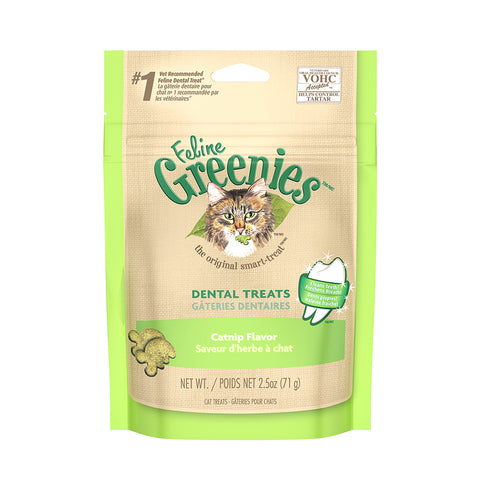 <b>Grennies</b><br>Dental Treats Catnip<br><br>2.1oz - 9.75oz
