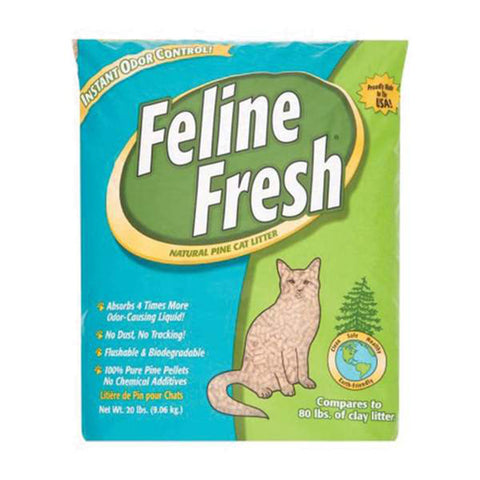 <b>Feline Fresh</b><br>Natural Pine Pellets<br><br>7lb - 40lb