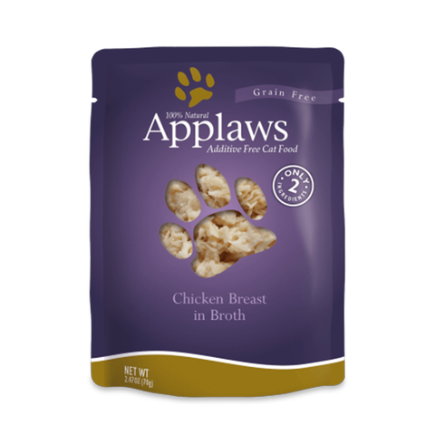 <b>Applaws</b><br>Chicken Breast<br><br>2.47oz - 70g