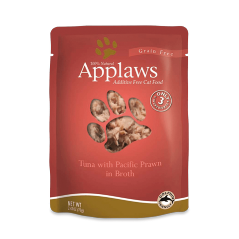 <b>Applaws</b><br>Tuna with Pacific Prawn<br><br>2.47oz - 70g