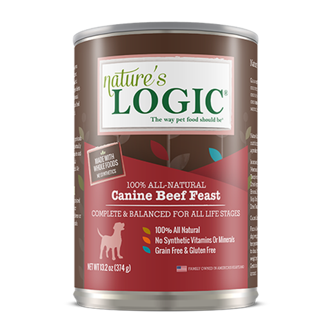 <b>Nature's Logic</b><br>Canine Beef Feast Wet<br><br>13.2oz - 374g
