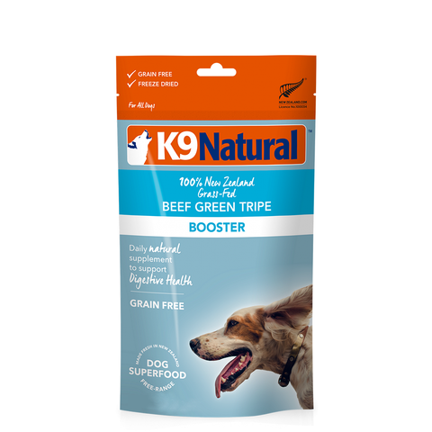 <b>K9 Natural</b><br>Beef Green Tripe Booster<br><br>8.8oz - 250g