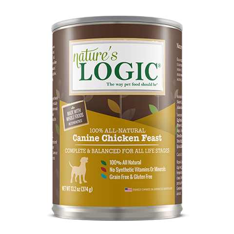 <b>Nature's Logic</b><br>Canine Chicken Feast Wet<br><br>13.2oz - 374g