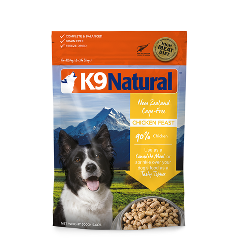 <b>K9 Natural</b><br>Chicken Feast<br><br>3.5oz - 4lb