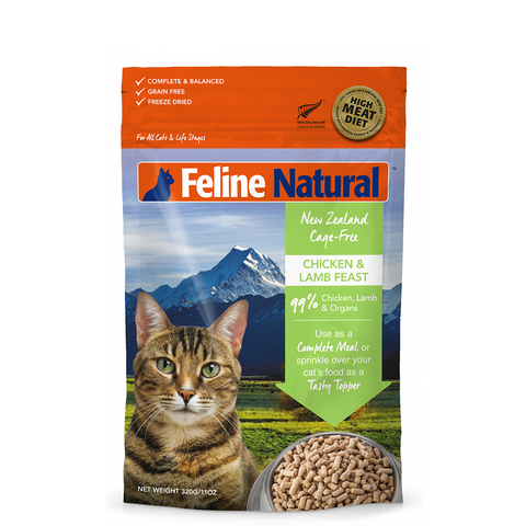 <b>Feline Natural</b><br>Chicken and Lamb Feast <br><br>3.5oz - 11oz