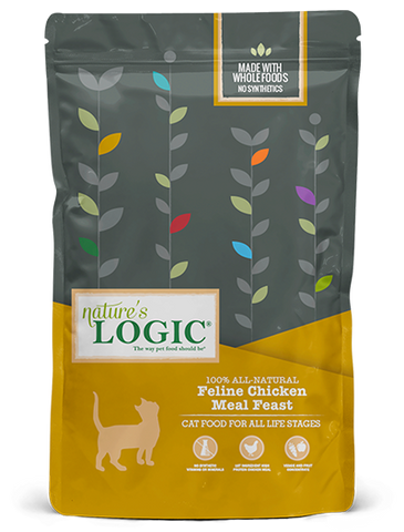 <b>Nature's Logic</b><br>Feline Chicken Meal Feast Dry<br>3.3lb - 15.4lb