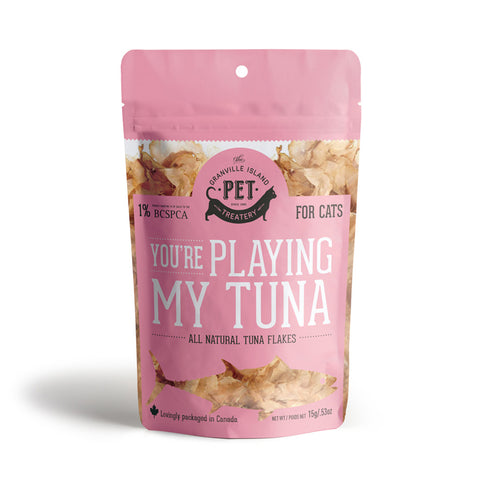 <b>Grandville Island Pet Treat</b><br>Pure Protein  Tuna Flakes<br><br>0.5oz - 2.1oz