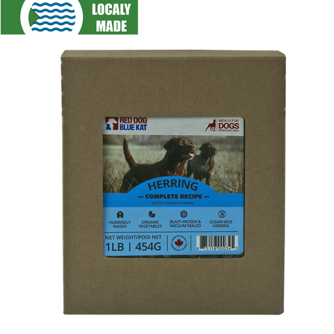 <b>Red Dog Blue Kat</b><br>Herring Complete For Dogs<br><br>0.5lb - 2