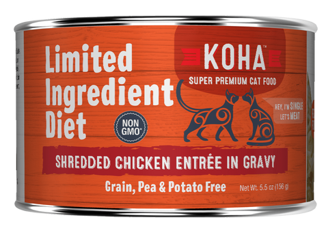 <b>Koha</b><br>Shredded Chicken Entrée in Gravy<br>5.5oz - 156g