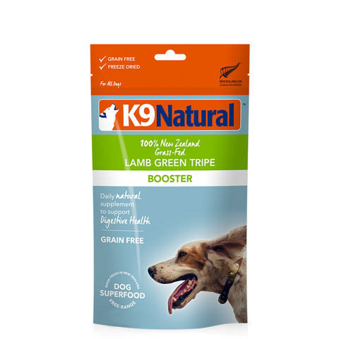 <b>K9 Natural</b><br>Lamb Green Tripe Booster<br><br>7oz - 200g