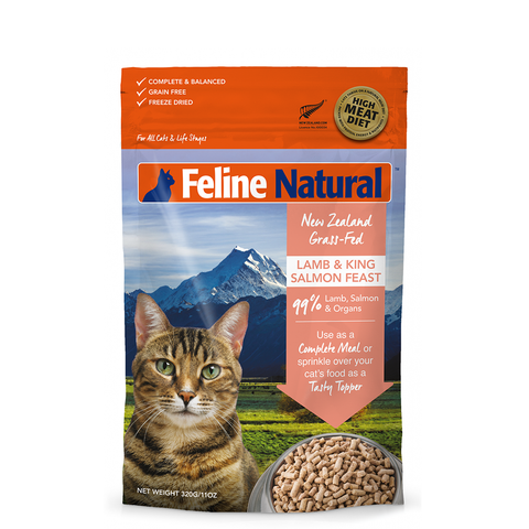 <b>Feline Natural</b><br>Lamb & King Salmon Feast <br><br>3.5oz - 11oz