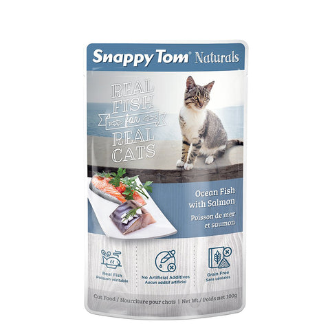 <b>Snappy Tom</b><br>Ocean Fish with Salmon<br><br>3.5 oz - 100g