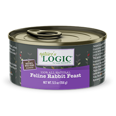 <b>Nature's Logic</b><br>Feline Rabbit Feast Wet<br><br>5.5oz - 155g