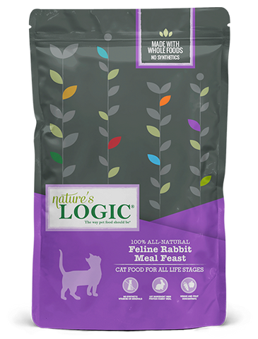 <b>Nature's Logic</b><br>Feline Rabbit Meal Feast Dry<br>3.3lb - 7.7lb