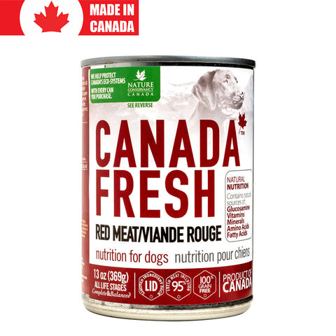 <b>Canada Fresh</b><br>Red Meat Formula Dog<br><br>13oz - 369g