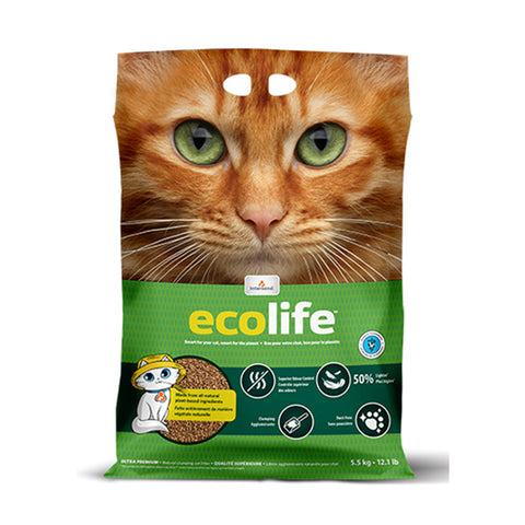 <b>Ecolife</b><br>Natural Clumping Litter<br><br>12lb - 5.5kg