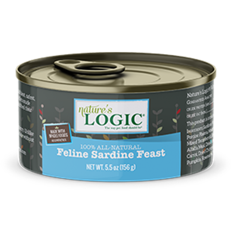 <b>Nature's Logic</b><br>Feline Sardine Feast Wet<br><br>5.5oz - 155g