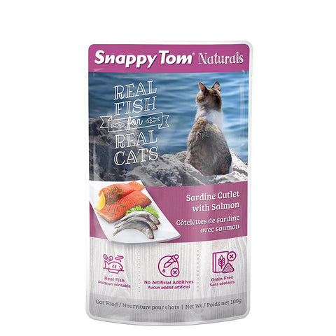<b>Snappy Tom</b><br>Sardine Cutlet with Salmon<br><br>3.5 oz - 100g