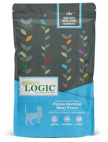 <b>Nature's Logic</b><br>Feline Sardine Meal Feast Dry<br>3.3lb - 15.4lb