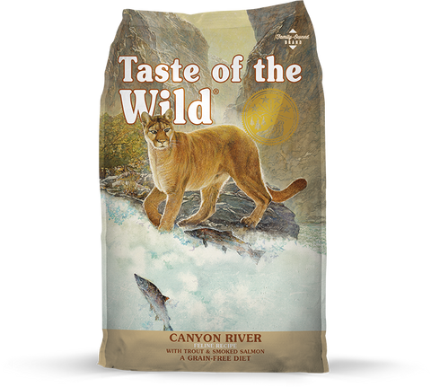 <b>Taste of the Wild</b><br>Canyon River Feline Recipe<br><br>2.27kg - 6.35kg