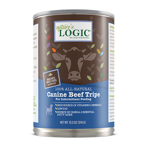 <b>Nature's Logic</b><br>Canine Beef Tripe Wet<br><br>13.2oz - 374g