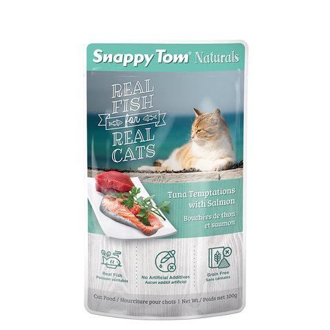 <b>Snappy Tom</b><br>Tuna Temptations with Salmon<br>3.5 oz - 100g