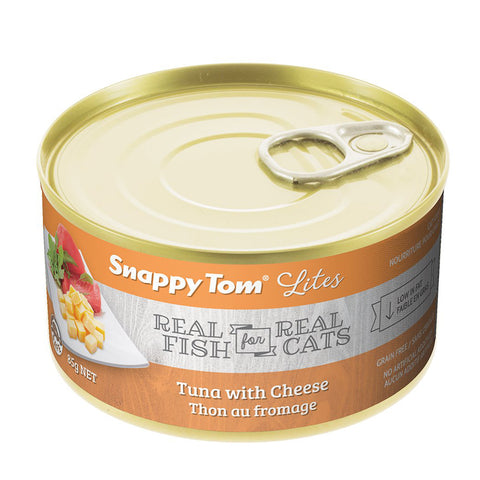 <b>Snappy Tom</b><br>Tuna with Cheese<br><br>3.5 oz - 5.5oz
