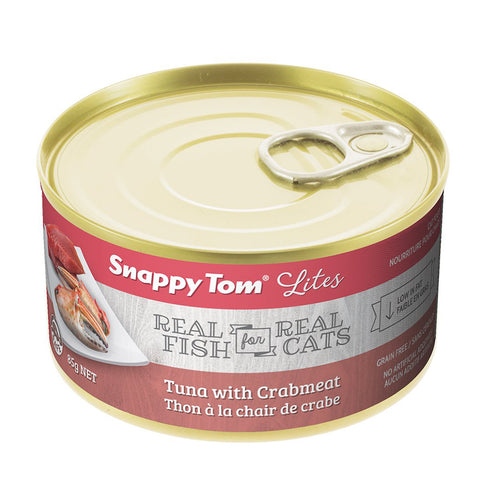 <b>Snappy Tom</b><br>Tuna with Crabmeat<br><br>3.5 oz - 5.5oz