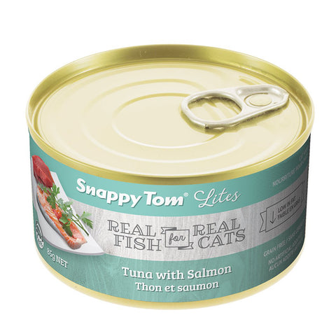 <b>Snappy Tom</b><br>Tuna with Salmon<br><br>3.5 oz - 5.5oz