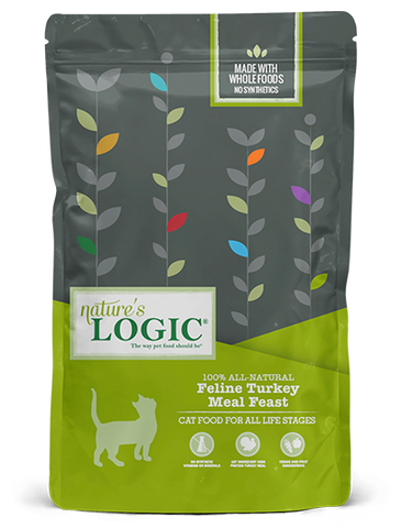<b>Nature's Logic</b><br>Feline Turkey Meal Feast Dry<br>3.3lb - 15.4lb