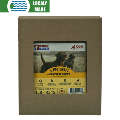 <b>Red Dog Blue Kat</b><br>Venison Complete For Dogs<br><br>0.5lb - 2