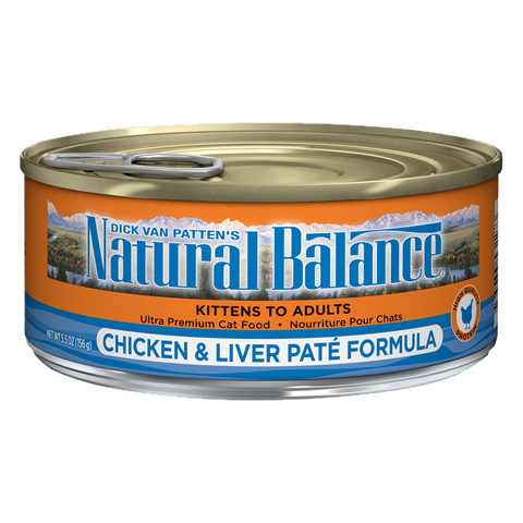 <b>Natural Balance</b><br>Original Ultra Premium Chicken & Liver Paté<br>5.5oz -155gr