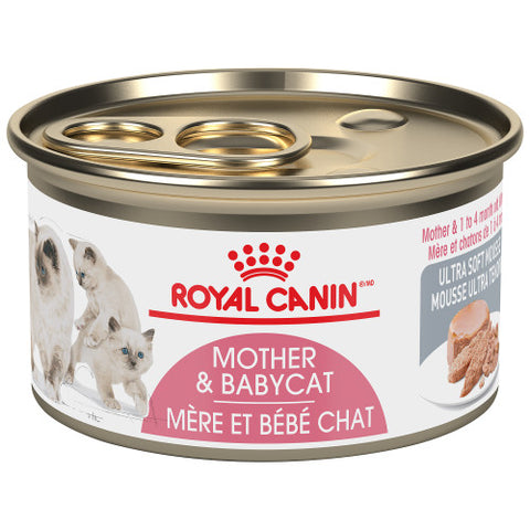 <b>Royal Canin</b><br>FHN Mother & Babycat Ultra Soft Mousse<br><br>24/85g or 24/165g