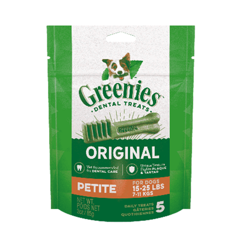 <b>Greenies</b><br>Original Petite Dog Dental Treats<br>6oz - 12oz