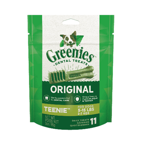 <b>Greenies</b><br>Original Teenie Dog Dental Treats<br>3oz - 12oz