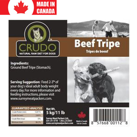 <b>Crudo</b><br>Ground Green Beef Tripe<br><br>5.5lb - 2.5kg