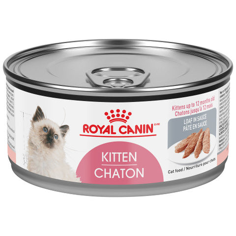 <b>Royal Canin</b><br>FHN Kitten Loaf In Sauce<br><br>24/85g or 24/165g