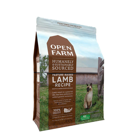 <b>Open Farm</b><br>Pasture-Raised Lamb Dry Cat<br>4lb - 8lb
