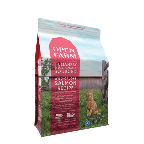 <b>Open Farm</b><br>Wild-Caught Salmon Dry Cat<br>4lb - 8lb