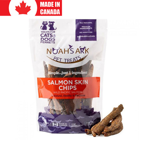 <b>Noah's Ark</b><br>Salmon Skin Chips<br>7oz - 200g
