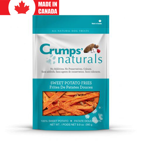<b>Crumps</b><br>Sweet Potato Fries<br><br>4.8oz - 9.9oz