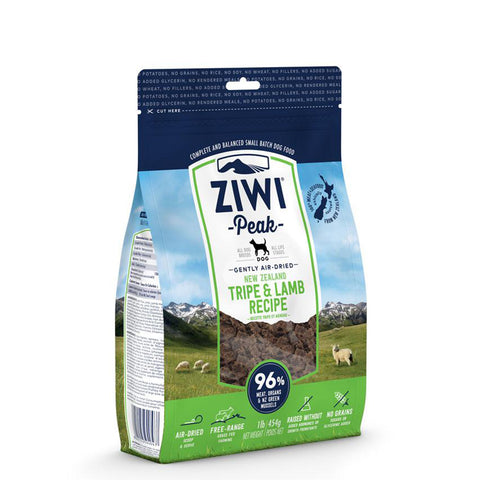 <b>Ziwi Peak</b><br>Tripe & Lamb For Dogs<br><br>16oz - 8.8lb