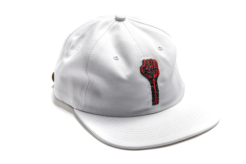 Embroidered Logo 6-Panel in White