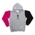 Triple color pullover logo hood